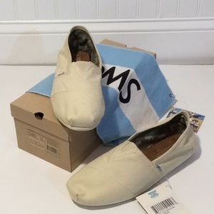 Toms Classic Canvas - men 10.5 in Natural